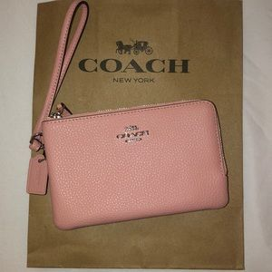 Coach Bags - NWT COACH Wristlet Wallet *Pink Leather*